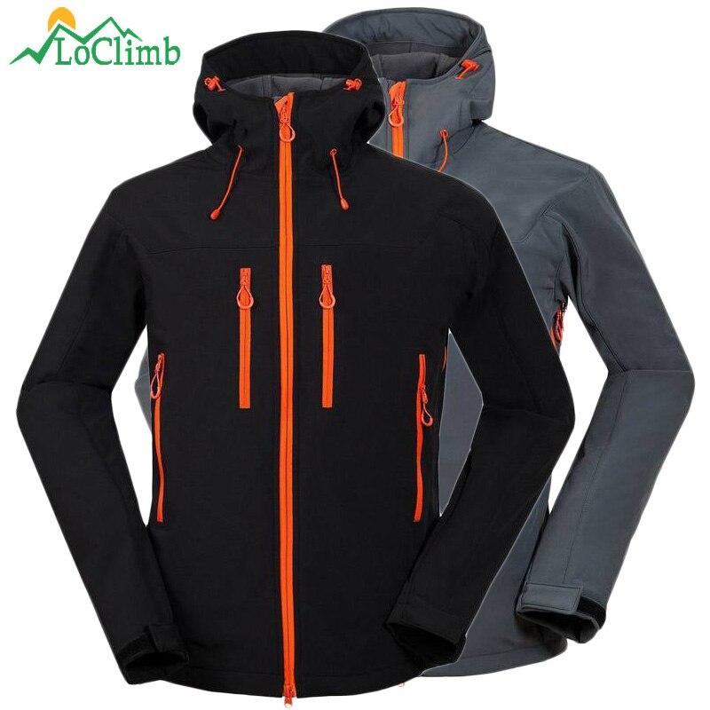 LoClimb Winter Heated Softshell Ski Jacket Men Waterproof Outdoor Sport Coats Camping Trekking Climbing Hiking Jackets,AM101<br>