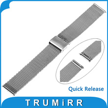 16mm 18mm 20mm 22mm Milanese Watch Band for Casio BEM 302 307 501 506 517 EF Series Stainless Steel Belt Quick Release Bracelet