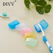 DIVV organizer 5 Piece Set Portable Travel Toothbrush Cover Wash Brush Cap Case Box u7112