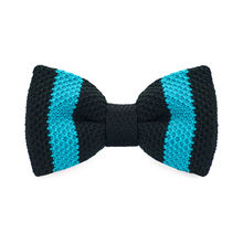 LF-329 New Arrival Knitted Crochet Men`s Bowties Adjustable Blue & Black Novelty Pattern For Men Party Bussiness Free Shopping