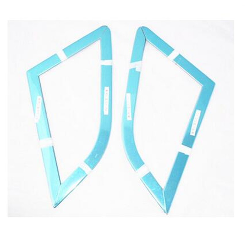 Rear window triangle strips rear window trim Fit For Ford ECOSPORT 2013 2014 stainless steel  2pcs per set(China)