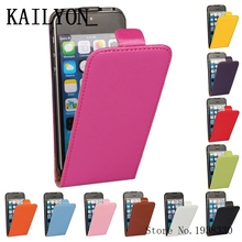 KAILYON Hot Flip PU Leather Case For iphone 5 5S 5G Phone Cases For iphone 5 5S Luxury Real Genuine Leather Cell Phone Cover Bag(China)