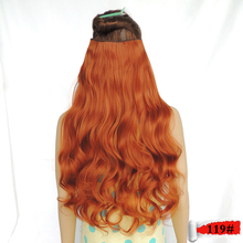 fast clip in hair extensions aplique de cabelo sintetico 28inch 120g fire color 119 curly for the extension cheveux