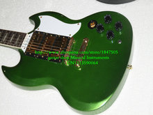 Wholesale Guitars New Arrival Green Model Custom Shop Electric Guitar with case High Cheap HOT(China)
