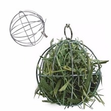 Stainless Steel Ball Shape Grass Grame Pet Feed Dispenser Bunny Guinea Rabbit Small Animal playing Hanging Ball Toy JJ2834