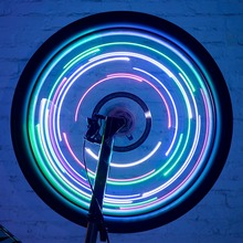 1 Pc Bike Wheel LED Lights Colorful Spoke Light String Auto Ultra Bright Waterproof Cycling Tire Accessories B2Cshop(China)