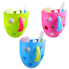 Bath Toy Organizer Funny Hanging Scoop Colorful Storage Bin Toddler Baby Kids Shower Accessories Bath Tub Toys(China)