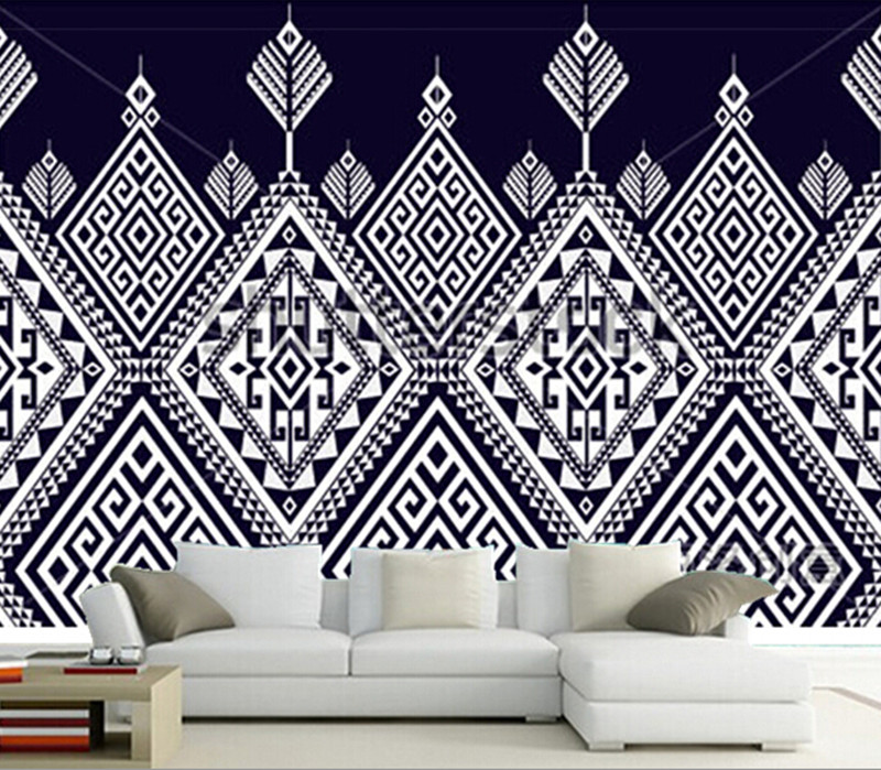 The custom 3D murals,abstract ethnic geometric pattern design papel de parede,living room sofa TV wall bedroom wall paper<br>