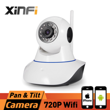 XINFI 2017 New HD 720P Onvif Wireless HD IP Camera Wifi 1.0 MP P2P Support 64G TF Card Pan & Tilt IP/Network security PTZ camera(China)