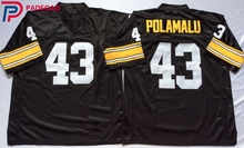 Embroidered Logo Troy Polamalu 43 black Throwback high school FOOTBALL JERSEY for fans gift cheap 1108-26(China)