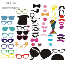 New 31pcs Photo Booth Prop Party Wedding Decor CatGlass Supplies Mask Mustache for Fun Favor photo booth brithday party favor