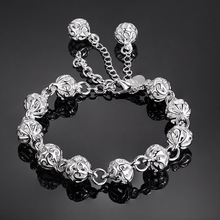 nice bracelet 925 free shipping Fashion jewelry silver gift gem Hand catenary PS560