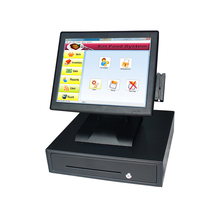 2119 15 Inch Touch Screen Cash Register Touch One Machine Supermarket Cash Register Cashier Meal Machine One Machine VFD Guest
