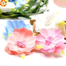 Buy 10pcs Artificial Flowers Slik Flower Heads Stamen Wedding Party Decorations DIY Wreath Scrapbooking Craft Craft Fake Flowers for $1.57 in AliExpress store