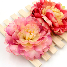 5PCS Big Size Artificial Silk Simulation Peony Flowers Head  For Home Wedding Party DIY Scrapbooking Decoration Fake Flowers