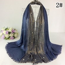 Pearls Glitter Pattern Fringe Plain Cotton Lurex Women Shawls And Scarves Muslim Hijab Wraps Bandana