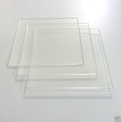 5.5 x 5.5 140mm x 140mm Borosilicate Glass Plate Bed Flat Polished Edge 3x Pack<br><br>Aliexpress