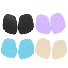 1 Pair Silicone Shoe Insole Gel Toe Pads Forefoot Shoes Cushion Women High Heel Half Insole Feet Pain Relief Pedicure Foot Care