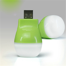 Small Apple USB LED Lamp With Light Creative Green Mini High Brightness Portable Small Night Light(China)