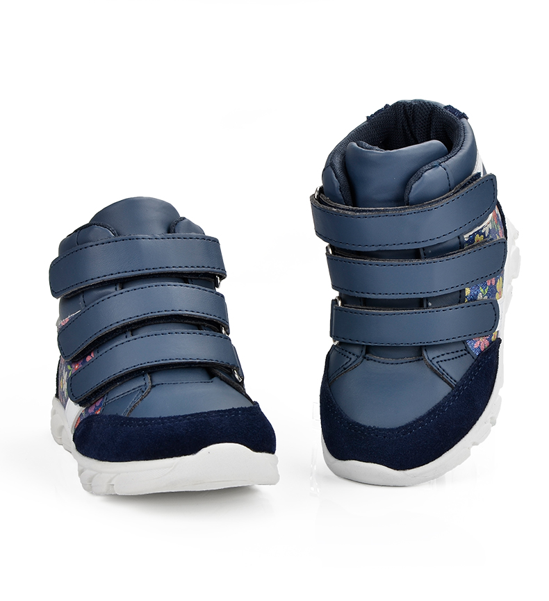 ULKNN Children Shoes For Girls Sneakers Massage Running Sport Shoes Genuine Leather Kids Sneakers Print Fashion Blue Size 20-25 (3)
