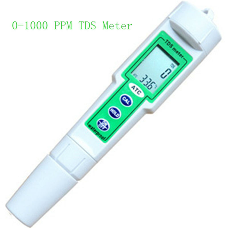 0-1000 ppm Waterproof Digital LCD TDS Temperature Meter Chemical Aquarium Photography Hydroponic Water TDS PPM Value Monitor<br>