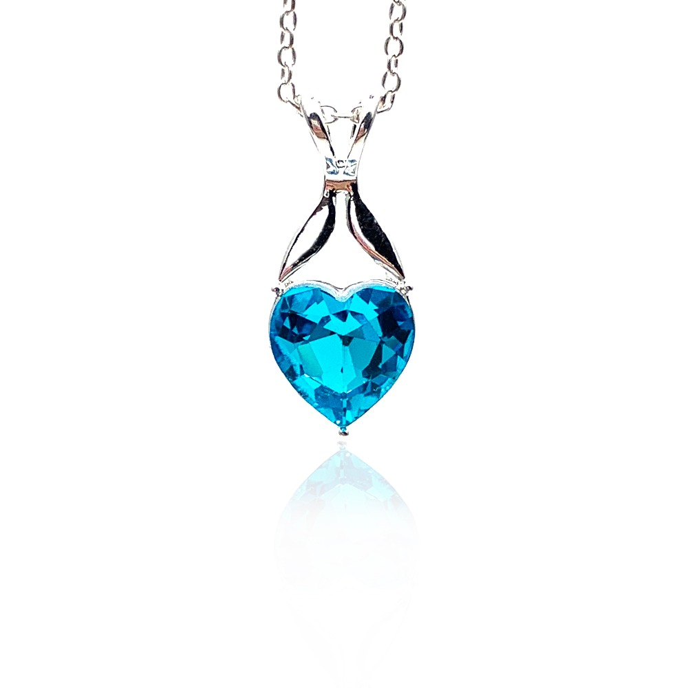 Crystal pendant necklace classic heart of the sea ...