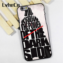 LvheCn phone case cover fit for iPhone 4 4s 5 5s 5c SE 6 6s 7 8 plus X ipod touch 4 5 6 Darth Vader The Dark Side Star Wars(China)