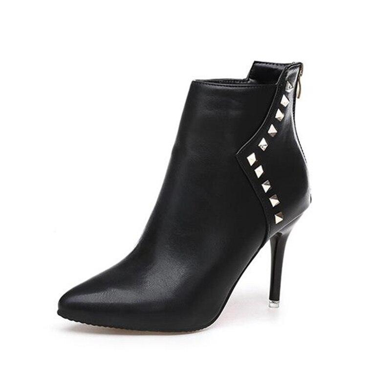 Bling Pu Leather Women Sexy Boots High Heels Zipper Shoes Warm Fur Winter Boots for Women X1022 35<br><br>Aliexpress