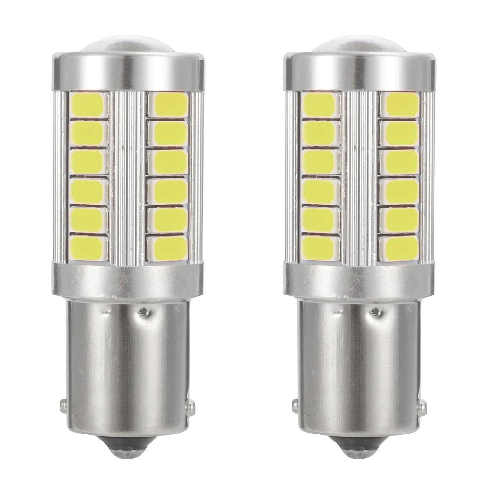 2pcs Super Bright 1156/BA15S/P21W 1157/BA15D/P21 5W 33SMD LED Car Turn light Reverse Lamp Brake light Tail Lamp Rear Bulb 12V
