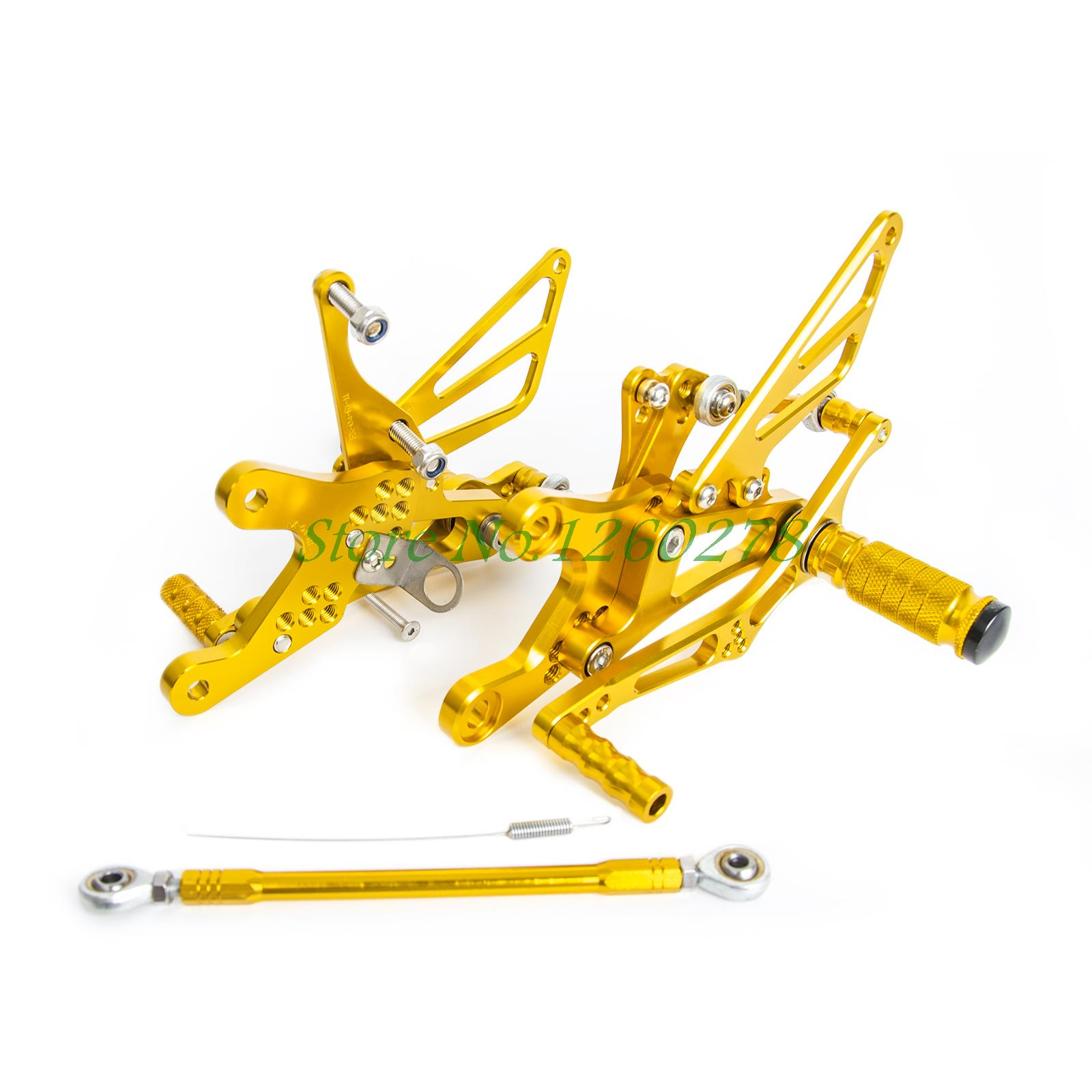 New Gold CNC Adjustable Foot Pegs Rearset Footrests Rear Sets For Yamaha YZF-R6 1999 2000 2001 2002<br><br>Aliexpress