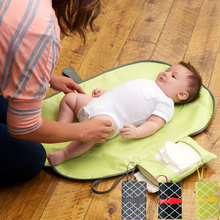 Waterproof Portable Baby Diaper Changing Mat Nappy Changing Pad Travel Changing Station Clutch Baby Care outdoor Hangs Stroller(China)