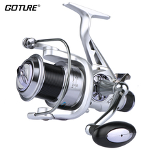 Goture Spinning Fishing Reel KM/KS Series Double Drag System Metal Spool Long Casting Carp Fishing Wheel For Fishing 5.2:1
