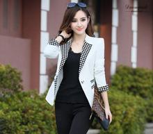 2016 Women Spring Ans Summer Korean Long Sleeves Suit Jacket Ladies Solid Color Patchwork Suits Blazers Casual Suits S/2Xl J1048
