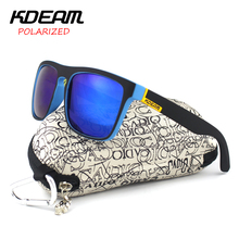 KDEAM Fashion 2016 Summer New Polarized Sunglasses Men Metal Hinges HD Polaroid lens Square Sun Glasses With Original case KD156(China)