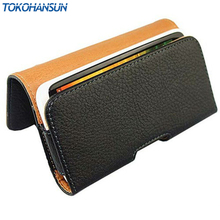 TOKOHANSUN New Smooth pattern/Lichee Pattern PU Leather Phone Belt Clip For THL 5000 T11 Cell Phone Pouch Cases(China)