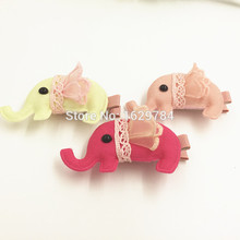 5pcs Fashion Cute Fabric Elephant with Lace Skirt Girls Hair Clips Kawaii Solid Animal Girls Hairpins Headware Hair Accessories