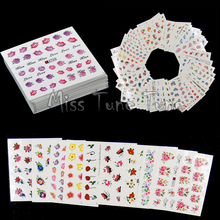50pcs Flowers Roses Water Nail Stickers Water Transfer Nail Decals Mixed Flowers Designs Spring Garden Manicure 2017(China)