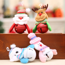 Christmas Decoration Pendants Xmas Tree Hanging Ornaments  Snowman Deer Bear Cute Doll Santa Claus For Home Party Decor EJ898787
