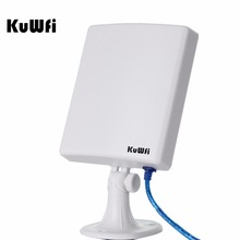 KuWfi 150Mbps High Gain 14dBi Antenna 5m Cable Wireless USB Adapter High Power Outdoor Waterproof 2.5km Long Range Wifi Receiver