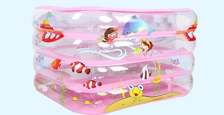 Cartoon-Inflatable-Swimming-Paddling-Pool-110-85-65cm-Baby-Bathroom-Four-Rings-Infant-Battub-Heat-Preservation (1)