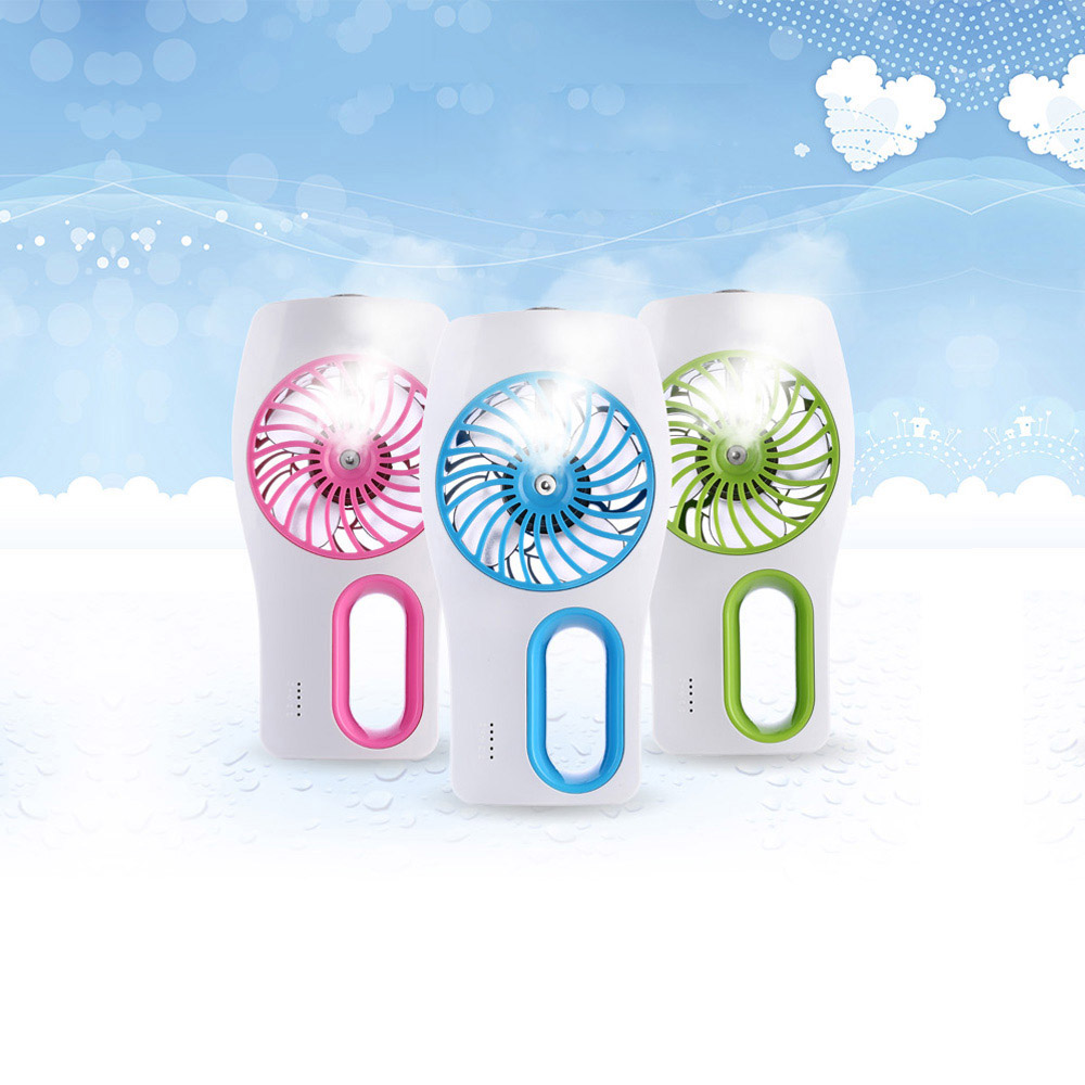 USB Mini Humidifier + Air Cooling Fan Mini Fans Office Air Diffuser Mist Maker DC 5V Pink/Blue/Green<br><br>Aliexpress