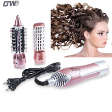 GW New 2 in 1 Styling Tool Hair Dryer Hair Curler Comb Salon Professional Electric Hair Dryer Blower Multifunctional Styling Set(China)