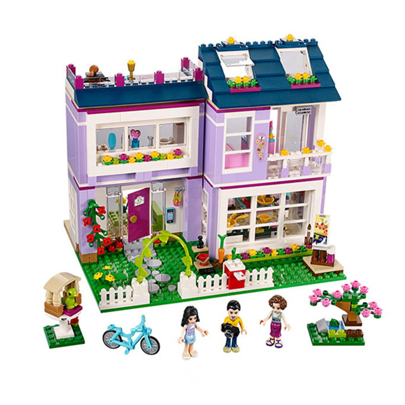 Model 10541 731Pcs Friends Emmas House Model Building Kits  Blocks Bricks Girl Toy Gift Compatible With 41095 Toys <br><br>Aliexpress