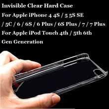 Glossy Snap Phone Case Crystal Invisible Hard PC Cover For Apple iPhone iPod Touch 4S 5S SE 6S 7 Plus Clear Protect Back Shell