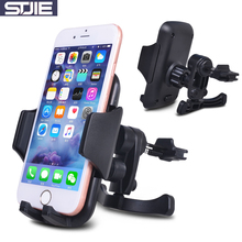 STJIE universal phone car holder plastic stand car nount air vent telephone mobile phone cradle for iphone 5s 6 7 plus Samsung