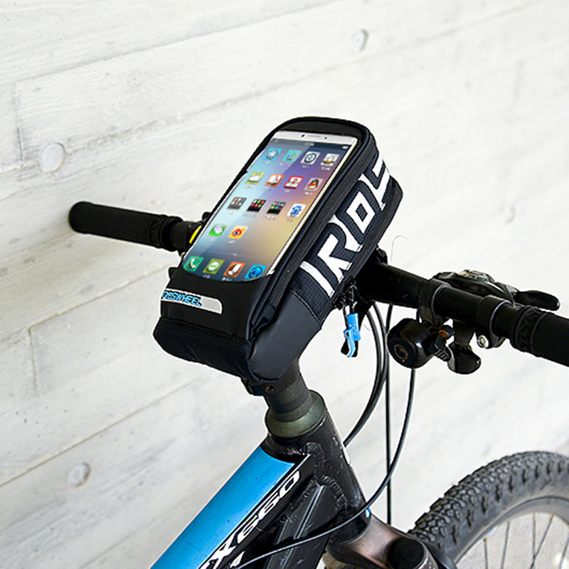 Bicycle Waterproof Front Tube Bag Cycling Frame PVC 5.5 inch Phone Touch Screen MTB Road Bike Accessories Handlebar Bags BG0087 (5)