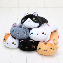 Kawaii Janpa Anime 23cm 6 Style Kutusita Nyanko Cat Plush Soft Doll Cat Animal Stuffed Toy pencil bag Kids Gifts