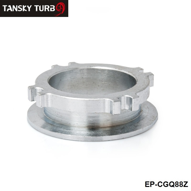 """TANSKY - GT35/GT30 2.5"""" 4-BOLT/3""""V-BAND TURBO FLANGE DOWNPIPES EXHAUST CONVERSION ADAPTER EP-CGQ88Z"""