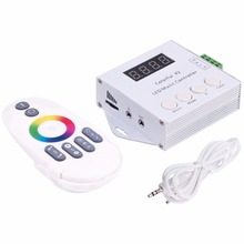 DC5V-24V WS2812B WS2811/WS2813/USC1903 Magic LED tape digital colorful music X2 controller with RF touch remote Max 1000pixels(China)