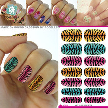 2017 Nails No Make-up Water Moves The Korean Children Of Pregnant Women Zebra Pattern Manicure Nail Stickers Free Polish K5632